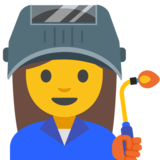 Woman Factory Worker on Google Android 7.1