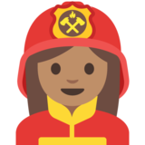 Woman Firefighter: Medium Skin Tone on Google Android 7.1