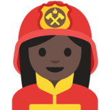 Woman Firefighter: Dark Skin Tone on Google Android 7.1