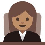 Woman Judge: Medium Skin Tone on Google Android 7.1