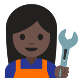 Woman Mechanic: Dark Skin Tone on Google Android 7.1