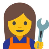 Woman Mechanic on Google Android 7.1