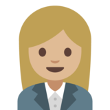 Woman Office Worker: Medium-Light Skin Tone on Google Android 7.1