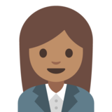 Woman Office Worker: Medium Skin Tone on Google Android 7.1