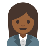 Woman Office Worker: Medium-Dark Skin Tone on Google Android 7.1
