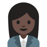 Woman Office Worker: Dark Skin Tone on Google Android 7.1