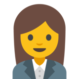 Woman Office Worker on Google Android 7.1