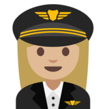 Woman Pilot: Medium-Light Skin Tone on Google Android 7.1