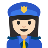 Woman Police Officer: Light Skin Tone on Google Android 7.1