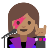 Woman Singer: Medium Skin Tone on Google Android 7.1