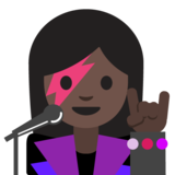Woman Singer: Dark Skin Tone on Google Android 7.1