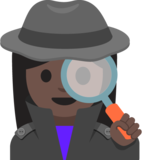 Woman Detective: Dark Skin Tone on Google Android 7.1