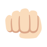 Oncoming Fist: Light Skin Tone on Google Android 7.1