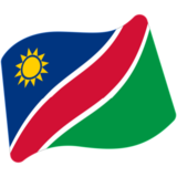 Flag: Namibia on Google Android 7.1