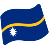 Flag: Nauru on Google Android 7.1