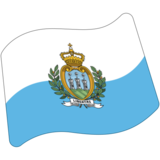 Flag: San Marino on Google Android 7.1