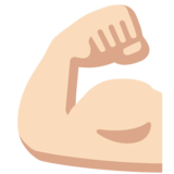 Flexed Biceps: Light Skin Tone on Google Android 7.1