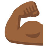 Flexed Biceps: Medium-Dark Skin Tone on Google Android 7.1