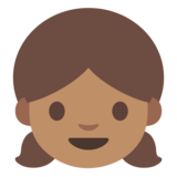 Girl: Medium Skin Tone on Google Android 7.1