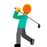 Person Golfing on Google Android 7.1