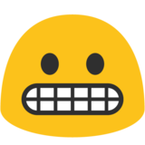 Grimacing Face on Google Android 7.1