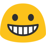Grinning Face on Google Android 7.1