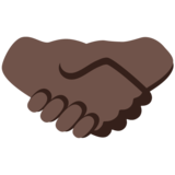 Handshake: Dark Skin Tone on Google Android 7.1