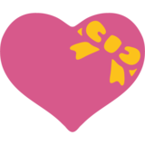 Heart with Ribbon on Google Android 7.1