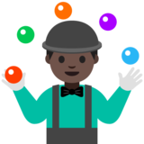 Person Juggling: Dark Skin Tone on Google Android 7.1