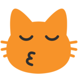Kissing Cat on Google Android 7.1