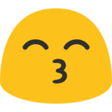 Kissing Face with Smiling Eyes on Google Android 7.1
