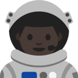 Man Astronaut: Dark Skin Tone on Google Android 7.1