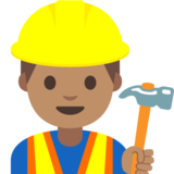 Man Construction Worker: Medium Skin Tone on Google Android 7.1