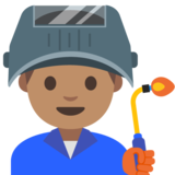 Man Factory Worker: Medium Skin Tone on Google Android 7.1
