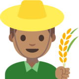 Man Farmer: Medium Skin Tone on Google Android 7.1