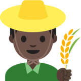 Man Farmer: Dark Skin Tone on Google Android 7.1
