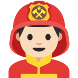 Man Firefighter: Light Skin Tone on Google Android 7.1