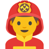 Man Firefighter on Google Android 7.1