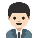 Man Office Worker: Light Skin Tone on Google Android 7.1