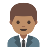 Man Office Worker: Medium Skin Tone on Google Android 7.1