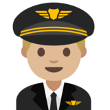Man Pilot: Medium-Light Skin Tone on Google Android 7.1