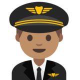 Man Pilot: Medium Skin Tone on Google Android 7.1
