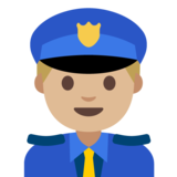 Man Police Officer: Medium-Light Skin Tone on Google Android 7.1