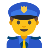 Man Police Officer on Google Android 7.1