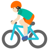 Man Biking: Light Skin Tone on Google Android 7.1