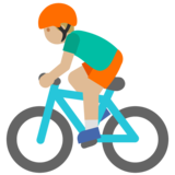 Man Biking: Medium-Light Skin Tone on Google Android 7.1