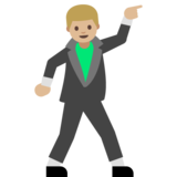 Man Dancing: Medium-Light Skin Tone on Google Android 7.1