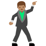 Man Dancing: Medium Skin Tone on Google Android 7.1