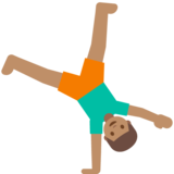 Man Cartwheeling: Medium Skin Tone on Google Android 7.1