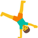 Man Cartwheeling on Google Android 7.1